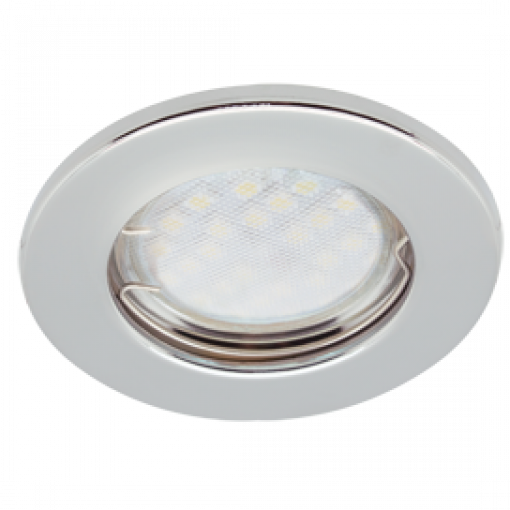 Ecola Light MR16 DL90 GU5.3 Светильник встр. плоский Хром 30x80