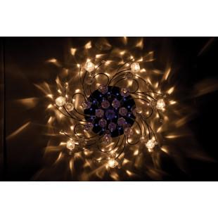 Люстра с подсветкой и пультом 85033/15 хром / синий + красный + фиолетовый