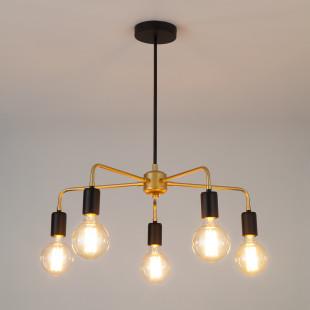 Подвесной светильник в стиле лофт 70053/5 черный/золото