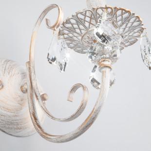 Бра с хрусталем 3305/1 белый с золотом / прозрачный хрусталь