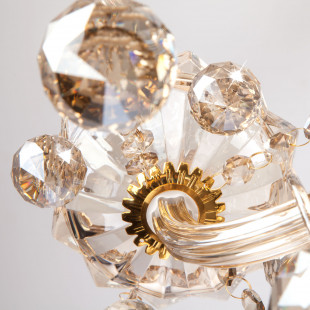 Люстра с тонированным хрусталем 10052/8 золото