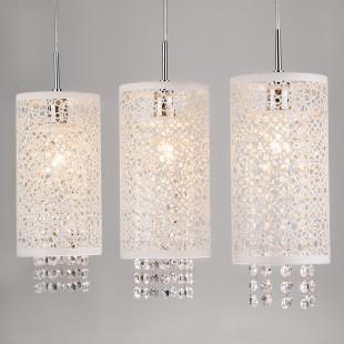 Подвесной светильник с хрусталем 1181/3 хром