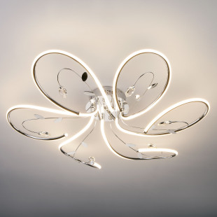 Светодиодная люстра с хрусталем 90082/6 хром