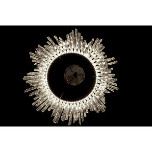 Светодиодная люстра с хрусталем 90050/3 хром