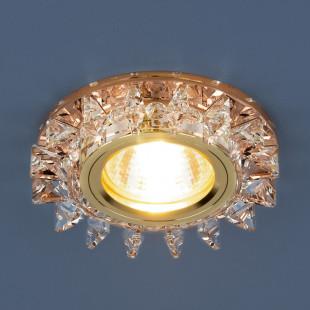 Точечный светодиодный светильник с хрусталем 6037 MR16 YL/GD зеркальный/золото