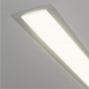 Линейный светодиодный встраиваемый светильник 103см 16Вт 4200К матовое серебро LS-03-103-16-4200-MS