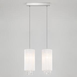 Подвесной светильник с хрусталем 1188/2 хром