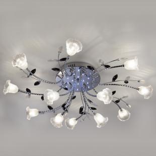 Потолочный светильник с LED подсветкой и пультом ДУ 80114/12 хром/белый