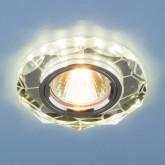 Встраиваемый потолочный светильник со светодиодной подсветкой 2120 MR16 SL зеркальный/серебро
