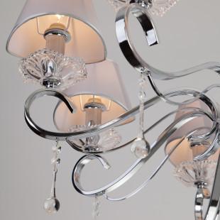 Подвесная люстра с хрусталем 10085/8 хром / прозрачный хрусталь