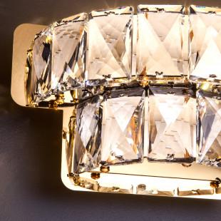 Светодиодный настенный светильник с хрусталем 90059/2 золото