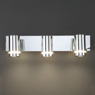 Светодиодный настенный светильник с поворотными плафонами 20064/3 хром