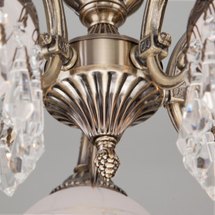 Классическая подвесная люстра 22823/5 античная бронза