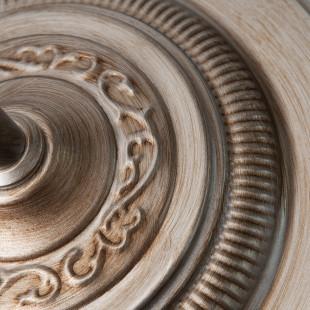 Классический торшер с абажуром 01023/1 серебро