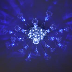 Люстра галогенная с пультом управления 4928/17 хром / бело-голубой