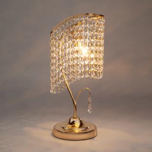 Настольная лампа с хрусталем 3122/1 золото Strotskis