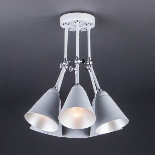 Потолочный светильник с поворотными рожками 70052/6 серый/серебро