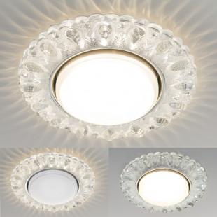 Встраиваемый точечный светильник с LED подсветкой 3026 GX53 CL прозрачный