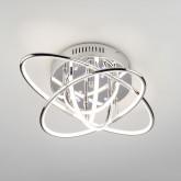 Потолочная светодиодная люстра с пультом 90132/7 хром
