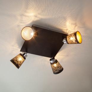 Потолочный светильник с поворотными плафонами 20061/4 черный