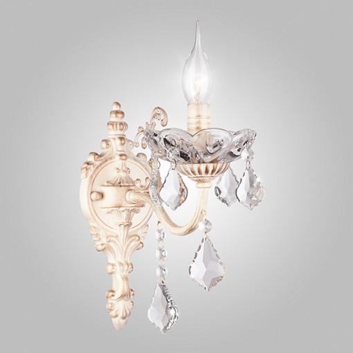 Бра с хрусталем 10005/1 белый с золотом
