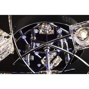 Светильник потолочный с пультом 4976/11 хром / синий + красный + фиолетовый
