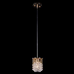 Подвесной светильник с хрусталем 3121/1 золото / прозрачный хрусталь