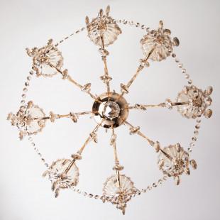 Люстра с тонированным хрусталем 10025/8 золото