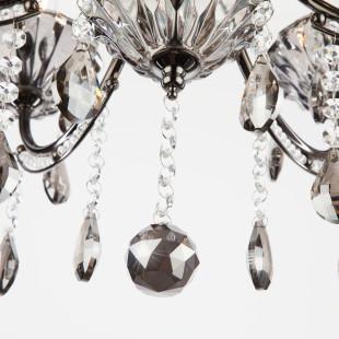 Люстра с тонированным хрусталем 3426/6 черный жемчуг / дымчатый хрусталь