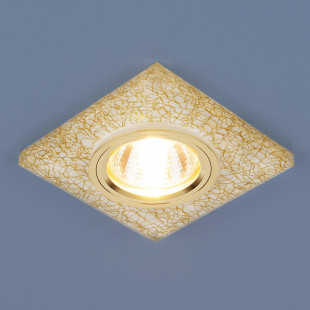 Точечный светильник светодиодный 8361 MR16WH/GD белый/золото
