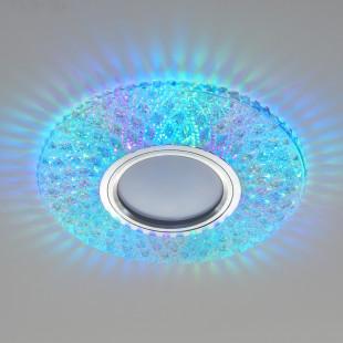 Встраиваемый точечный светильник с LED подсветкой 2220 MR16 CL прозрачный подсветка мульти
