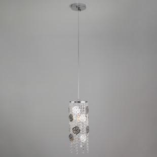 Подвесной светильник с хрусталем 10083/1 хром / прозрачный хрусталь