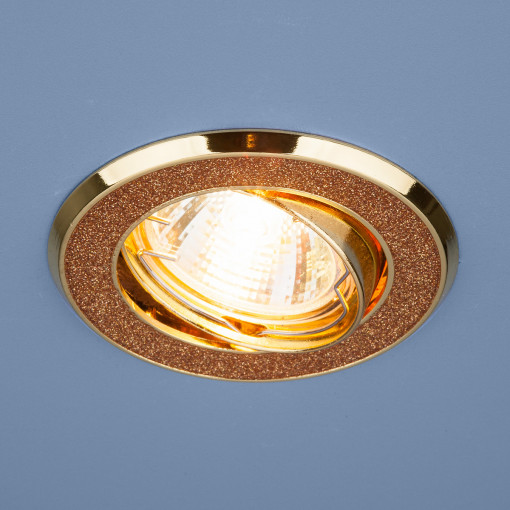 Точечный светильник 611 MR16 GD золотой блеск/золото