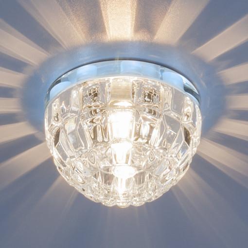Точечный светильник со светодиодной подсветкой 7246 G9 CH/CL хром/прозрачный