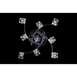 Потолочная люстра с пультом управления 4976/9 хром / синий + красный + фиолетовый