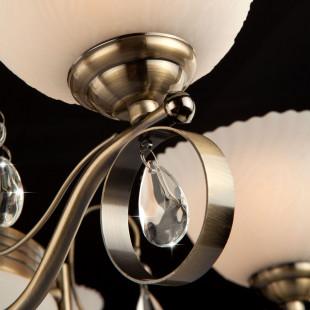 Классическая подвесная люстра 29850/6+3 античная бронза