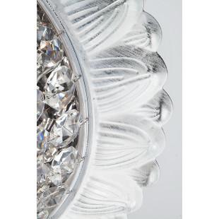 Потолочная люстра с хрусталем 10067/5 белый с серебром