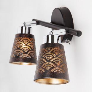 Настенный светильник с поворотными плафонами 20061/2 черный