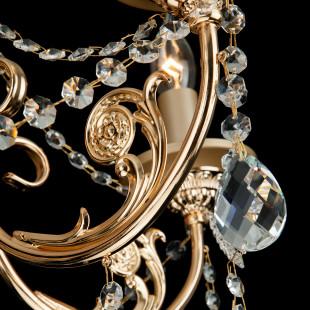 Классическая люстра с хрусталем 10079/5 золото / прозрачный хрусталь