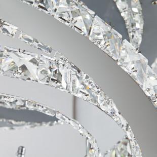 Хрустальная светодиодная люстра с пультом 90066/2 хром