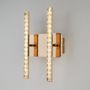 Светодиодный настенный светильник с хрусталем 90041/2 золото