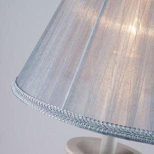Настольная лампа с абажуром 01026/1 серый