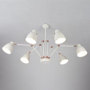 Светильник в стиле лофт с поворотными рожками 70084/6 белый