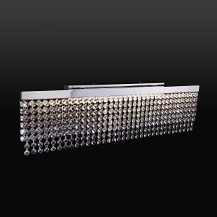 Светодиодный настенный светильник с хрусталем 90049/1 хром