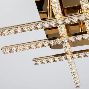 Светодиодный потолочный светильник с хрусталем 90041/6 золото