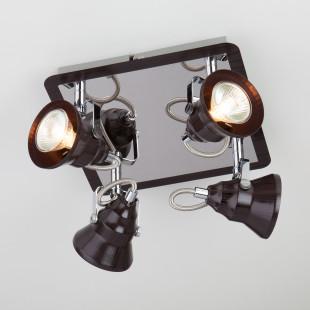 Потолочный светильник с поворотными плафонами 20062/4 хром/венге