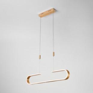 Светодиодный подвесной светильник 90072/1 золотой