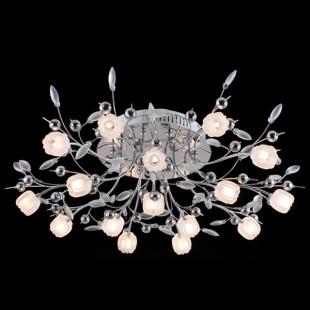 Светодиодный потолочный светильник с пультом 5117/16 хром/белый