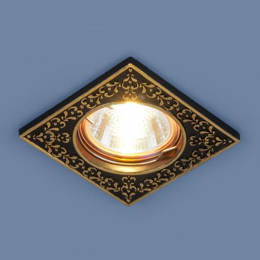 Точечный светильник 120071 MR16 BK/GD черный/золото