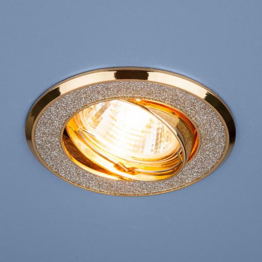 Точечный светильник 611 MR16 SL/GD серебряный блеск/золото
